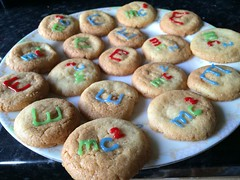 Equal numbers of E cookies and mc^2 cookies