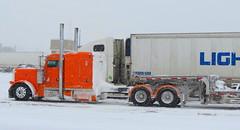 Arctic Fox (jr-transport) Tags: orange snow style custom peterbilt 389 largecar 379