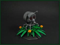 Bugsy Alone (Karf Oohlu) Tags: lego moc plant bug insect skullface frog