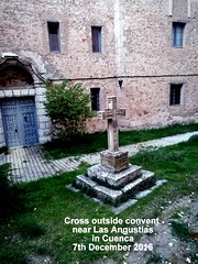 Cross outside convent near Las Angustias in Cuenca 7th December 2016 (D@viD_2.011) Tags: cross outside convent near las angustias cuenca 7th december 2016