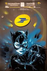 C215 : Catwoman (dprezat) Tags: c215 michelepfeiffer pfeiffer catwoman vincennes festivalamerica boîteauxlettres postes street art graffiti tag fresque pochoir peinture aérosol bombe painting nikon nikond800 d800 christianguémy