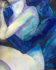 ($pacemilk) Tags: landscape bodies abstract embrace wet watercolor painting mixedmedia