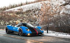 Snow Business. (Alex Penfold) Tags: pagani zonda cinque roadster blue 3of5 supercars supercar super car cars autos alex penfold 2016 mount fuji japan raduno