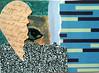 ATC1327 - Hiding a broken heart (tengds) Tags: atc artisttradingcard artcard handmadecard eye heart brokenheart black blue tan green paperscraps papercraft tengds