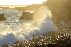 Sunset Surf (NaturalLight) Tags: sunset surf wave beach reykjanes peninsula iceland