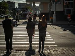 Yuzno-Sakhalinsk in evening (altazet) Tags: yuznosakhalinsk sakhalin altazet anatolyleonov town people inevening street trasition crosswalk helios44m manuallens