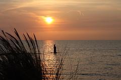 Brouwersdam at dawn. (Crazy Rudie) Tags: 40d eos40d eos canon goereeoverflakkee water orange sky lucht nederland zuidholland brouwersdam strand zonsondergang zee beach sunset sea
