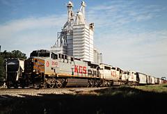 KCS, Westville, Oklahoma, 2000 (railphotoart) Tags: sb kcs westville okla stillimage westvilleokla arkansasoklahoma unitedstates