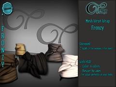 "Mesh Wrist Wrap ""Fronzy"" V#1 Basic (..:: OPOPOP Design ::..) Tags: opopop hud colors cam bandana unisex bracelet secondlife wrist wrapped"
