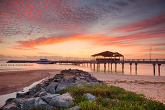 Stunning Redcliffe Sunrise || REDCLIFFE JETTY || QUEENSLAND (rhyspope) Tags: australia aussie queensland redcliffe jetty sunrise sunset coast coastal beach sky clouds rhys pope rhyspope canon 5d mkii wharf pier seaside sea ocean marine nautical boat