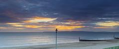 Purbeck View (nicklucas2) Tags: sunset seascape beach sea sand groyne cloud wave streetlight purbeckhills seaside