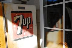 7Up, registered with U.S. Patent Office (sniggie) Tags: reflection refrigerator soda 7up sign signage vintage drink door