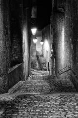 By night (christian.grelard) Tags: street night stone nuit rue escalier bw blackandwhite noiretblanc nb monochrome blois