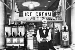 ICE CREAM (carlo tardani) Tags: venezia venice piazzasanmarco icecream barista bw bianconero blackandwhitephotos nikond750
