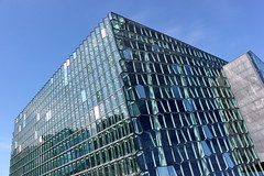 reykjavik harpa (1) (kexi) Tags: iceland europe reykjavik harpa concerthall modern architecture glass blue sky canon may 2016 geometry building instantfave