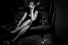 (~ cynthiak ~) Tags: 2017 365 365days 3652017 23365 january january2017 img4358 werehere hereios provokeme blackandwhite blackwhite bw drama dramatic selfportrait onestrobe