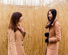 Matching Coats 1 ((Jessica)) Tags: matchingcoats tancoats coats highgrass fens fenway boston massachusetts outdoors people portraits sonya6000 sonyalpha