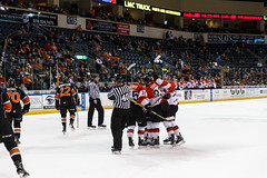 "Missouri Mavericks vs. Cincinnati Cyclones, January 25, 2017, Silverstein Eye Centers Arena, Independence, Missouri.  Photo: John Howe / Howe Creative Photography • <a style=""font-size:0.8em;"" href=""http://www.flickr.com/photos/134016632@N02/32558226405/"" target=""_blank"">View on Flickr</a>"