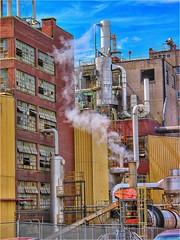 Industrial Agricultural Complex (Ronald (Ron) Douglas Frazier) Tags: outdoor industrial processing factory industry machinery steam smoke midwest illinois