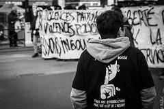 Chut ! (Hermann.Click) Tags: revolt demonstration manifestation monochrome rue street paris personnes luttes social workingclass grève lutte manif