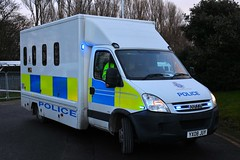 YX08 JUY (S11 AUN) Tags: humberside police iveco daily 50c18 cage cell van prison bus prisoner transfer 999 emergency vehicle yx08juw
