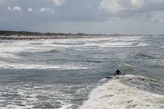 Surfing in Versilia () Tags: sea summer italy water surf italia mare waves estate surfer wave surfing surfers toscana versilia onde tavola onda