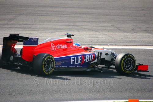 Will Stevens in Free Practice 2 for the 2015 Belgium Grand Prix