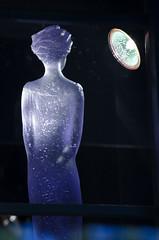 In the gaze of the spotlight's eye (James_D_Images) Tags: street light sculpture window glass vancouver display granville britishcolumbia spotlight figure