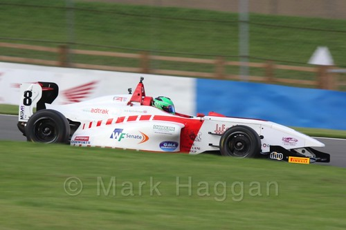 Lanan Racing's Jack Bartholomew in BRDC F4 Race 3 at Donington Park, September 2015