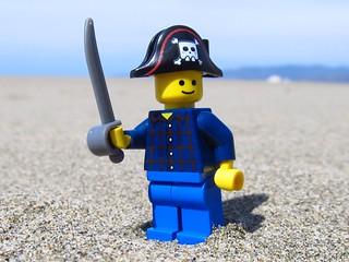 LEGO Pirate at Ocean Beach