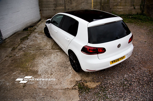 VW Golf 6 GTD rep gloss white wrap - a photo on Flickriver