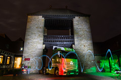 Axel Staudenmaier (pictHA-fotografie) Tags: lightpainting workshop lkw weintor actros sgstern