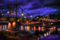 Indigo Skies (a2roland) Tags: normanzeba2rolandyahoocoma2roland indigo skies sky norm northampton easton pa nj new jersey pennsylvania phillipsburg blue night evening bridge county freebridge free water reflection delaware river lights glow colors violet purple red yellow structure photo pic picture flicker landscape © norman zeb photography all rights reserved