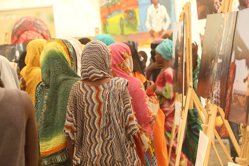 Afar city residents visiting the Art and Photo Exhibition on Girl's Empowerment Campaign held at Semera,Afar