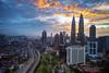 Another Fiery Sunrise in Kuala Lumpur (Nur Ismail Photography) Tags: petronas twintowers nisi petronastwintowers suriaklcc singleexposure raymaster petronastower3 nurismailphotography nurismailmohammed nurismail