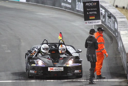 Sebastian Vettel in The Race of Champions, Olympic Stadium, London, November 2015