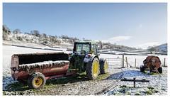 Snow at Yockenthwaite Farm (Digital Wanderings) Tags: winter snow tractor farm yorkshiredales yockenthwaite langstrothdale muckspreading yockenthwaitefarm