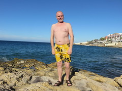 IMG_3406 (griffpops_deptford) Tags: sea beach swimming malta shirtlessmen hairymen smoothmen menatthebeach menwithbeards stpaulsbaymalta menintrunks