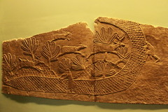 Netting Deer in Ancient Assyrian (praja38) Tags: city england london wall carved ancient king panel display great corridor deer kings britishmuseum nineveh hunt assyria assyrian depiction posterngate ashurbanipal northpalace