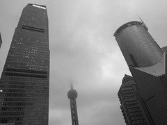 Skyscrapers in Pudong (A. Wee) Tags: shanghai 上海 china 中国 skyscraper pudong 浦东 cloudy lujiazui 陆家嘴