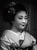 Shōko-san-- Monochrome Portrait (Rekishi no Tabi) Tags: kyōtoshi kyōtofu japan jp maiko apprenticegeiko apprenticegeisha geisha kyoto monochrome gion gionkobu sony shoko