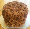Gluten Free Chocolate Rosette Birthday Cake