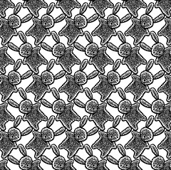 Too much cute (Don Moyer) Tags: pattern rabbit bunny cute ink drawing moyer donmoyer brushpen