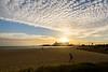 Big Sky, Port Melbourne (Derek Midgley) Tags: d756235 sun low late afternoon spiritoftasmania woman silhouette beach sand port melbourne australia