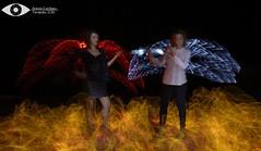 Angel y Demonio (antoniodigital) Tags: roja light painting luz neon linterna larga exposicion ledaña