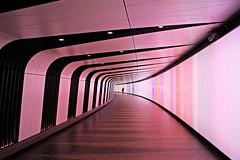 london must-have No.4 (Fotoristin - blick.kontakt) Tags: london architecture subway underpass station king´scross stpancras woman lines curve silhouette colourful fotoristin pink