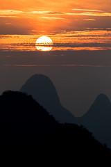Sunrise (GavinZ) Tags: sun sunrise xianggong mountain yangsuo china asia morning clouds silhouette landscae 桂林 中国 广西