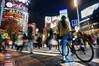 Waiting for New Year (PeterThoeny) Tags: shibuya tokyo japan crossing people bicycle bicyclist motion motionblur blur light lights outdoor hdr 1xp raw nex6 selp1650 photomatix night qualityhdr qualityhdrphotography newyear fav100