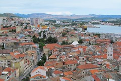 Šibenik from above :) (green_lover (I wait for your comments:))) Tags: šibenik szybenik croatia buildings roofs view landscape fromabove thechallengefactory cityscape city town
