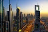Sheikh Zayed road (handheld), Dubai (Bokeh & Travel) Tags: dubai sheikhzayed sunset cityscape city skyscrapers panorama uae arab emirates road boulevard goldenhour colorful colors architecture magnificent beautiful colorfull skyline level43